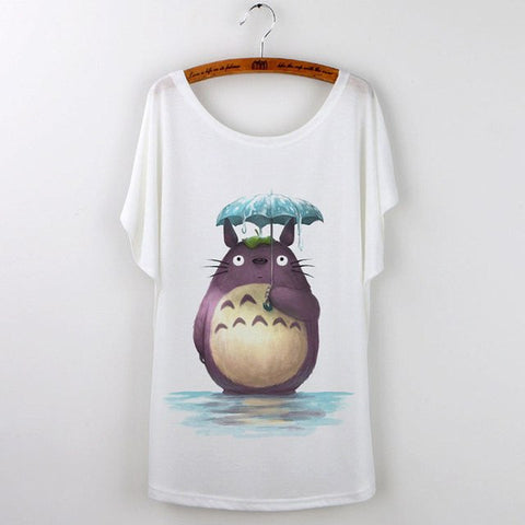 Cute Totoro Print T Shirts For Women 14 Styles - 50shades.store