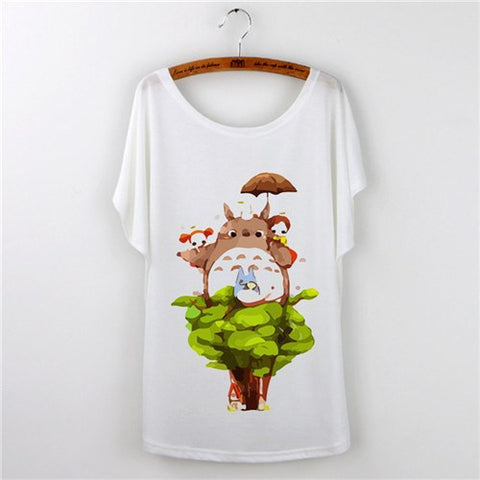 Cute Totoro Print T Shirts For Women 14 Styles - ghibli.store