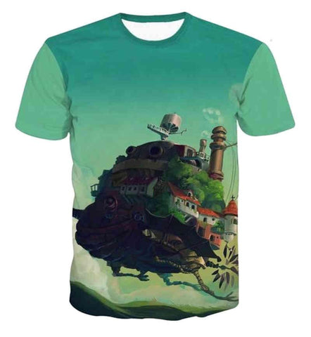 Howl's Moving Castle 3D T Shirt - ghibli.store