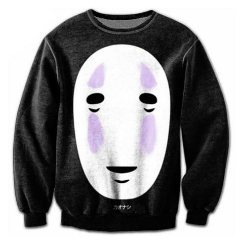 Spirited Away No Face Kaonashi Sweatshirt - ghibli.store