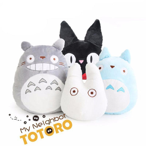My Neighbor Totoro & KiKi's Delivery Service Jiji Plush Stuffed Pillow - 50shades.store