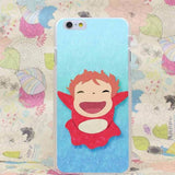 Ponyo On The Cliff Transparent Cover Case for iPhone - 50shades.store