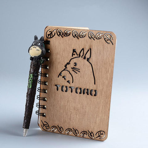 Totoro Wooden Notebook - ghibli.store