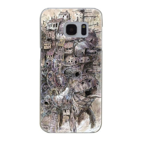 Howl's Moving Castle Transparent Hard Cover For Samsung - ghibli.store