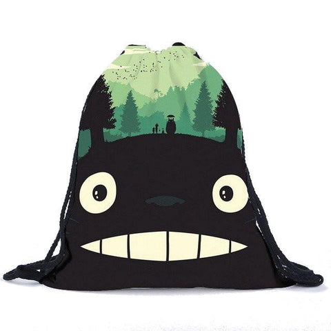 My Neighbor Totoro Drawstring Canvas Backpack 8 Styles - ghibli.store