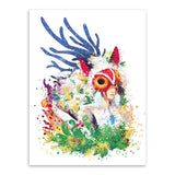 Princess Mononoke Watercolor Wall Poster Canvas - ghibli.store