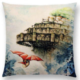 Studio Ghibli Watercolor Throw Pillow Cover - ghibli.store