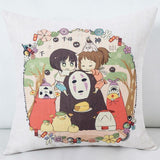 Studio Ghibli Characters Throw Pillow Cover - ghibli.store