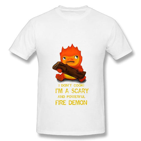 Howl's Moving Castle Calcifer T Shirt - 50shades.store