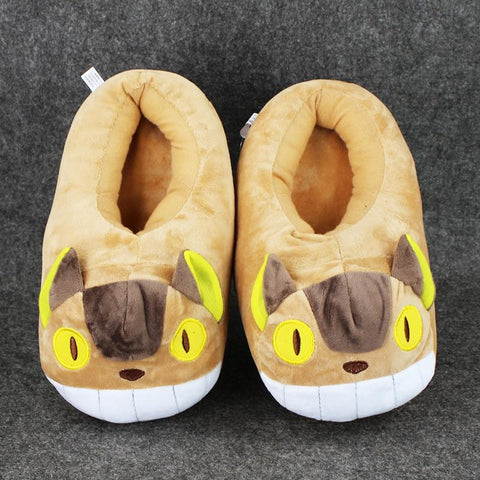 My Neighbor Totoro Cat Bus Plush Slipper - ghibli.store
