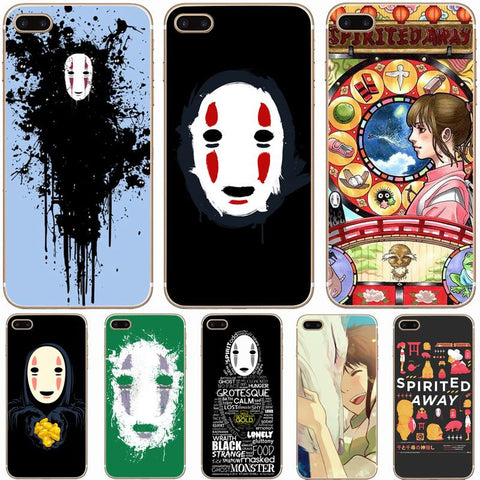 Spirited Away No Face Kaonashi Hard Phone Case For Apple iPhone - ghibli.store