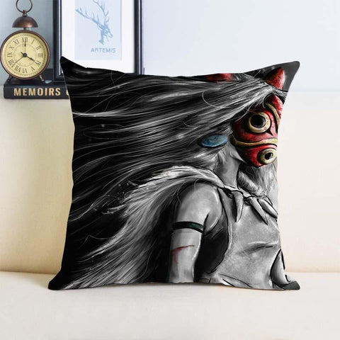 Princess Mononoke Throw Pillow Cover - ghibli.store