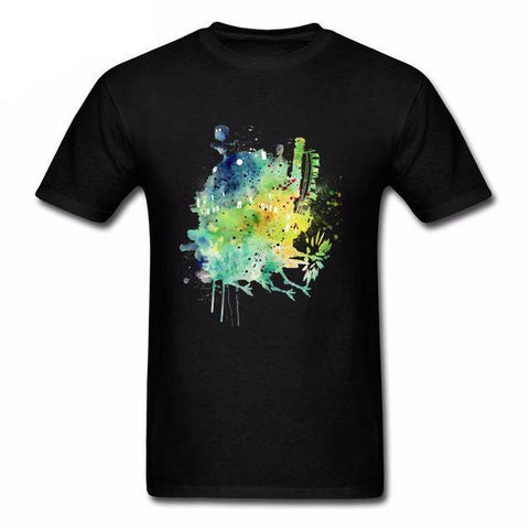 Howl's Moving Castle Colorful Castle T Shirt - ghibli.store