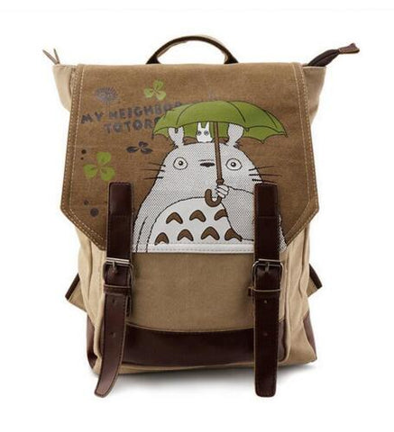 My Neighbor Totoro with Umbrella Canvas Backpack - ghibli.store