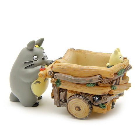 Studio Ghibli My Neighbor Totoro: Totoro Push Car 5cm - ghibli.store