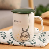 My Neighbor Totoro Ceramic Mugs With Spoon and Cover - ghibli.store