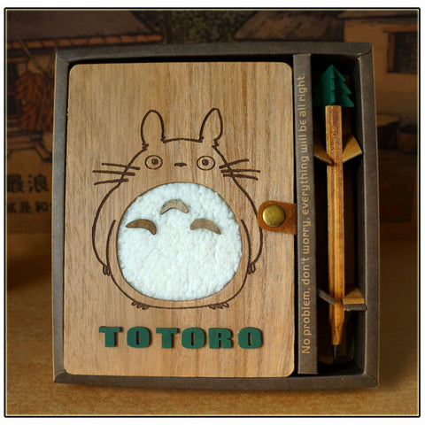 My Neighbor Totoro Wooden Notebook - ghibli.store