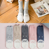 My Neighbor Totoro Socks with Fluffy Ears Harajuku Style 5 Colors - ghibli.store