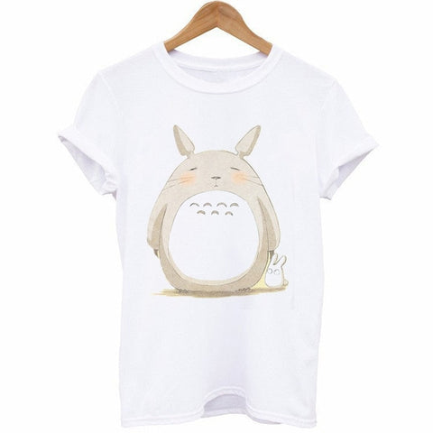Cute Totoro Print T-Shirt For Women 12 Styles - ghibli.store