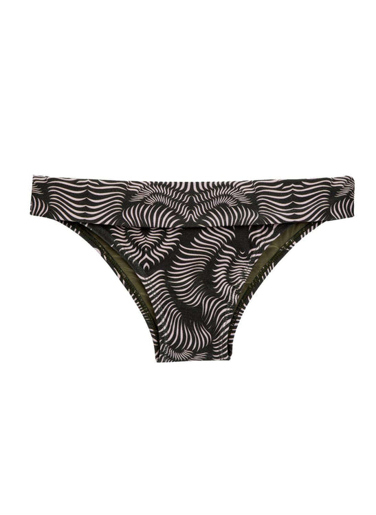 KATE BOTTOM - BLACK AND PALE PINK  RIB PRINT - BR