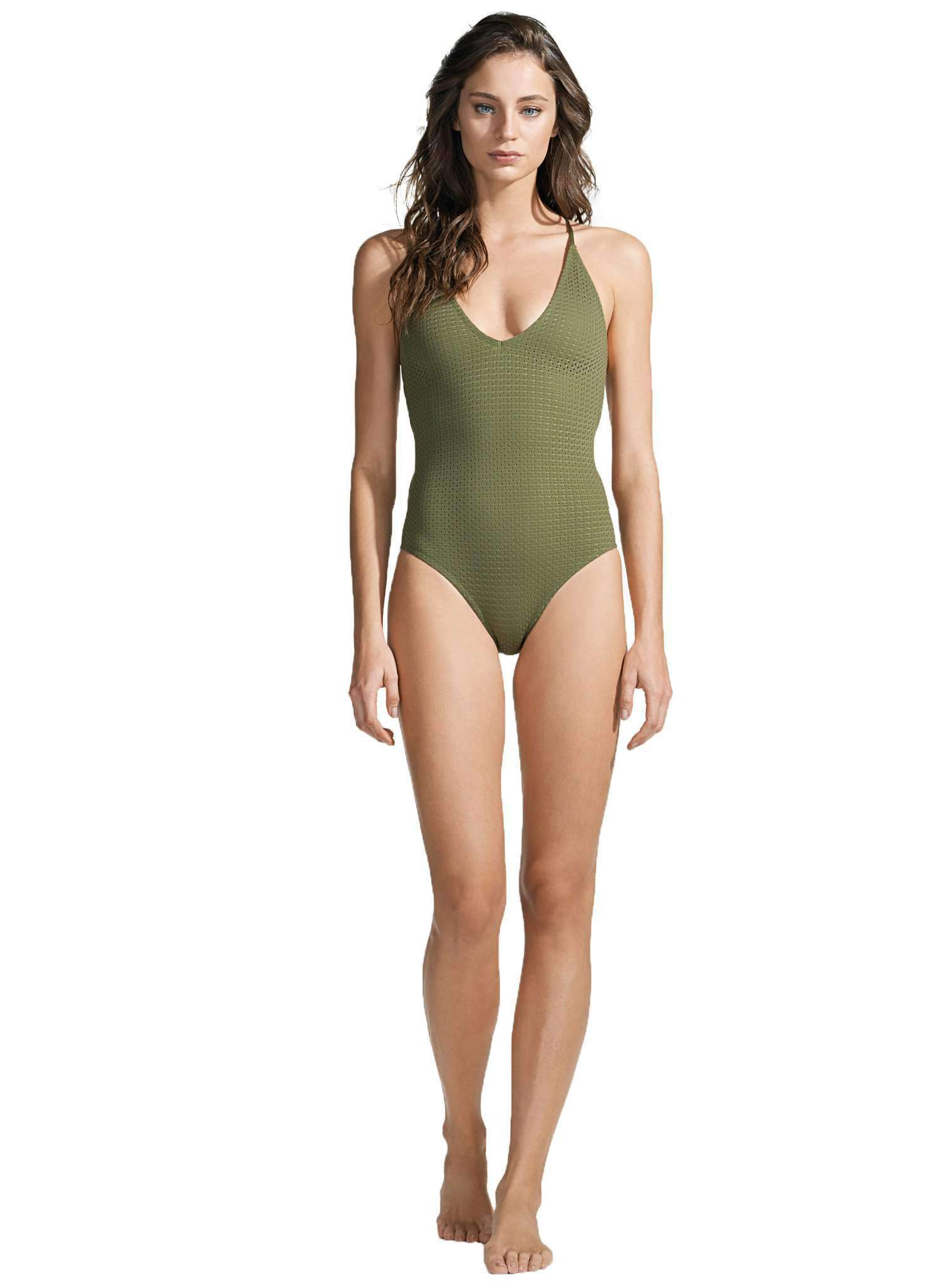 LACES ONE PIECE - PERFORATED LYCRA