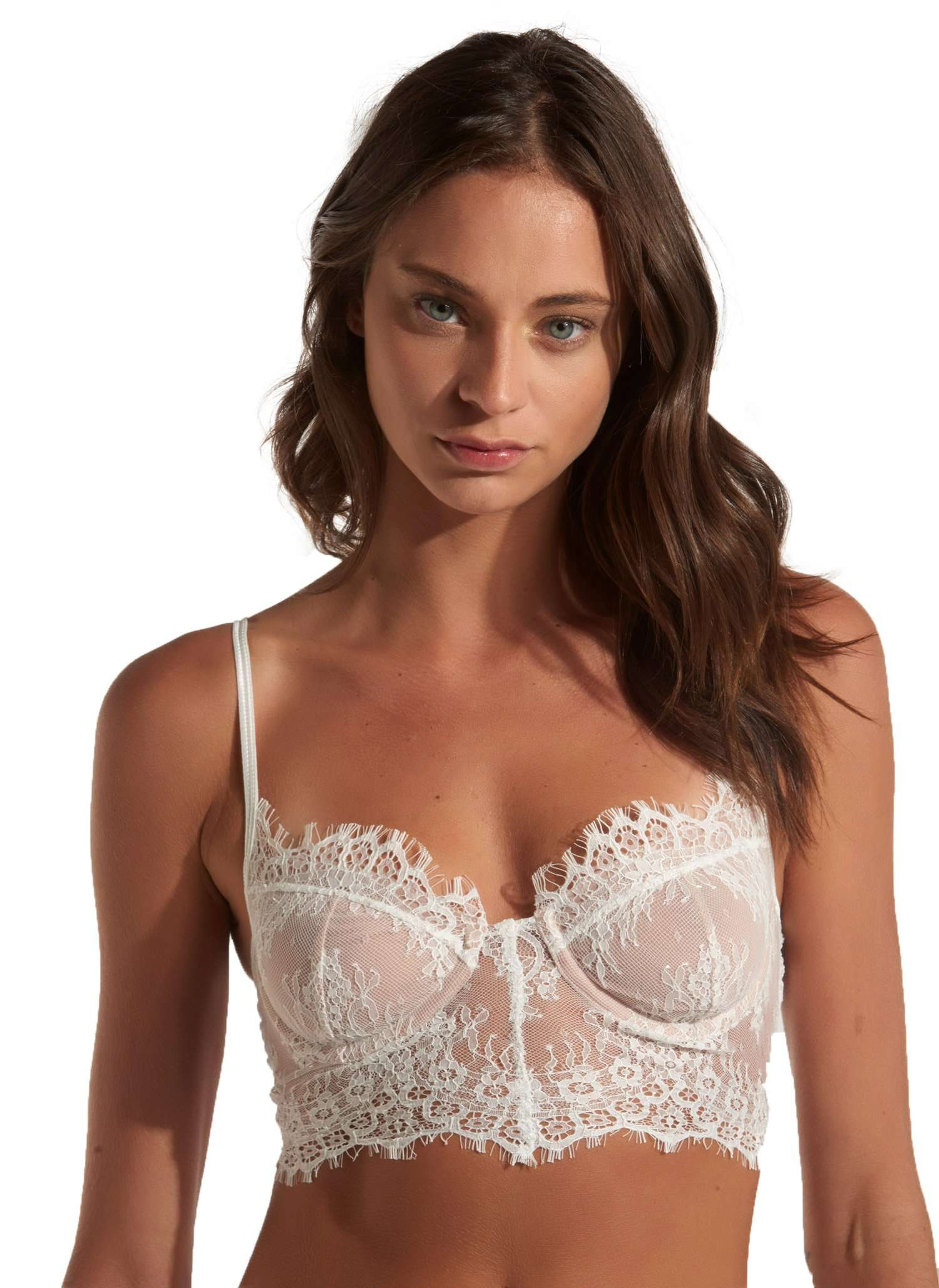 Dea Lace Bra - WHITE