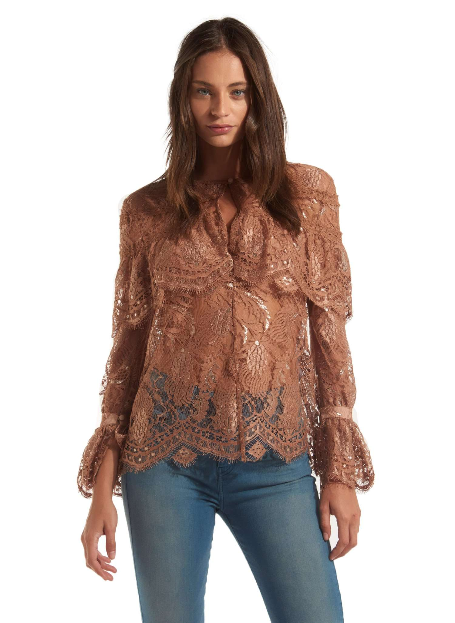 Chelsea Blouse - NUDE