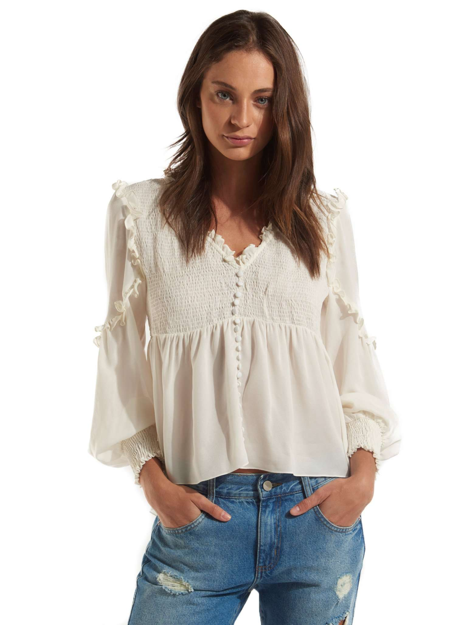 Nathalia Blouse - WHITE