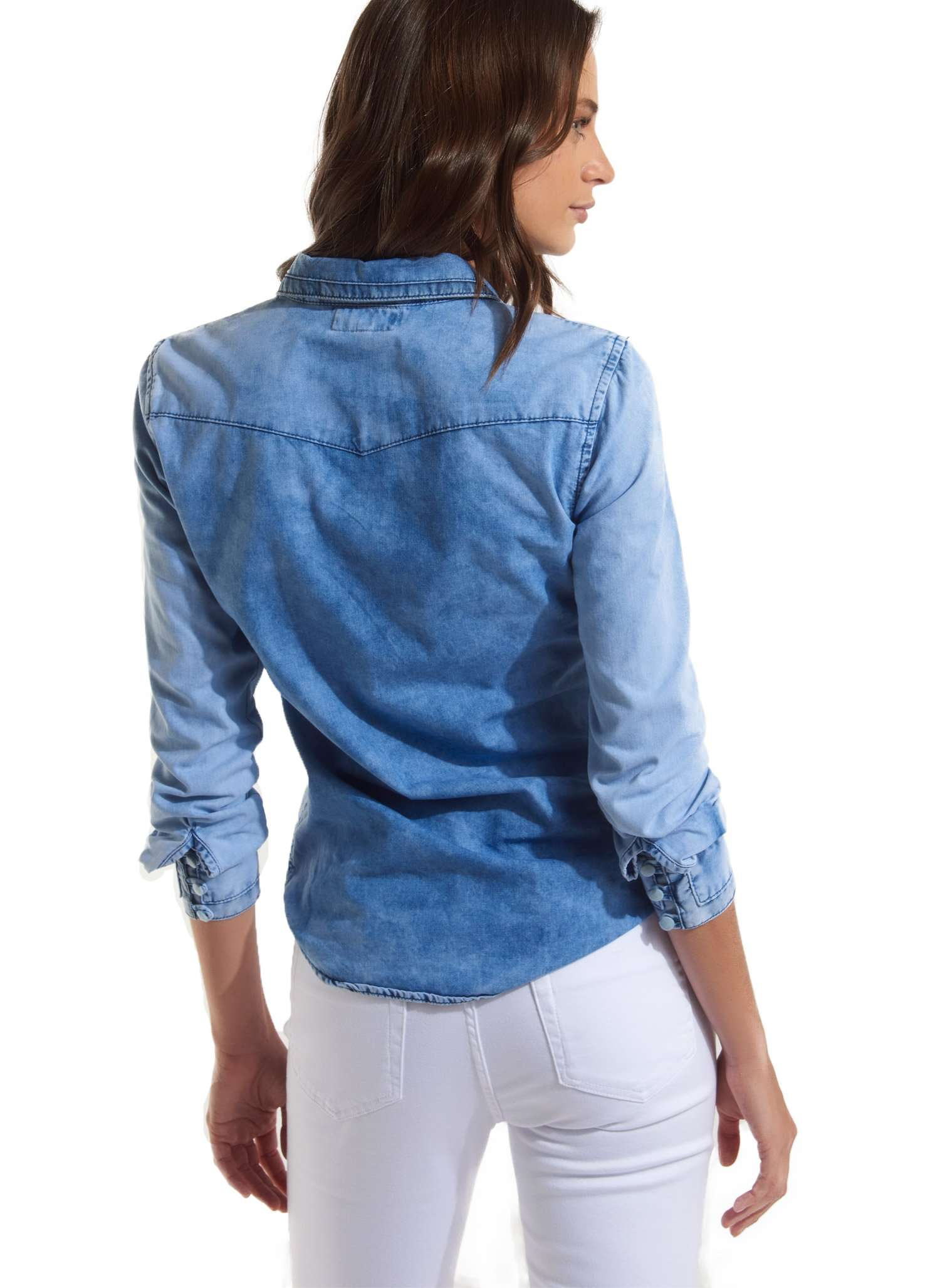 Paula Denim Shirt - BLUE