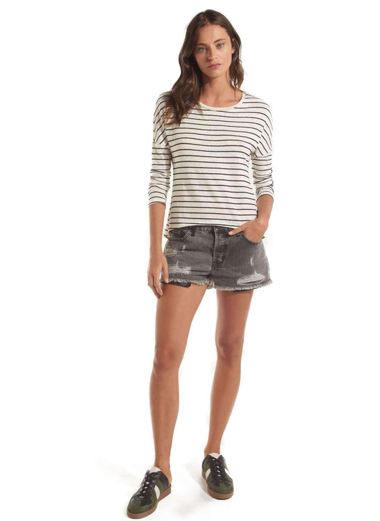 Chloe Denim Shorts  - BLACK