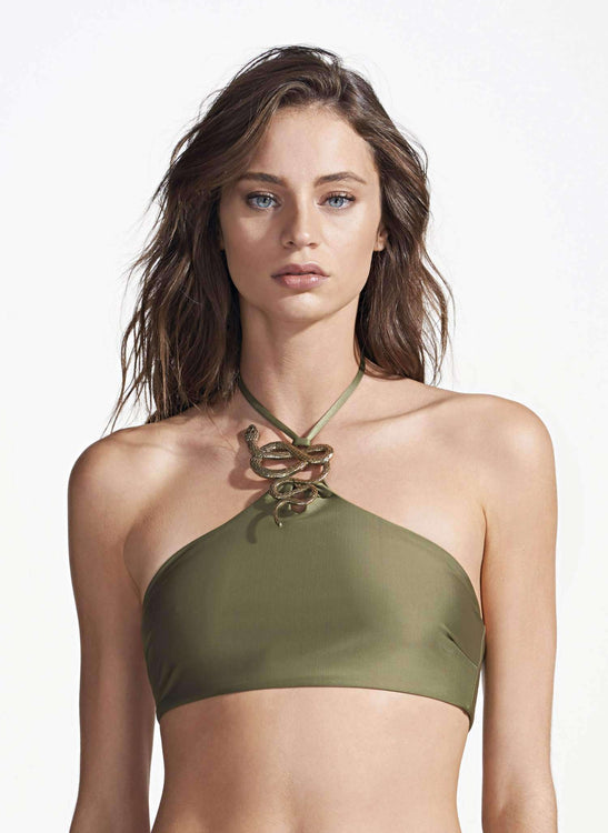 CORINA TOP - SNAKE SOLID