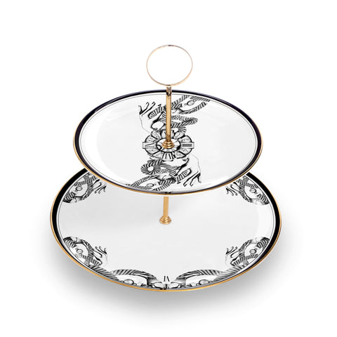 The Divineness of Time 2-Tier Cake Stand