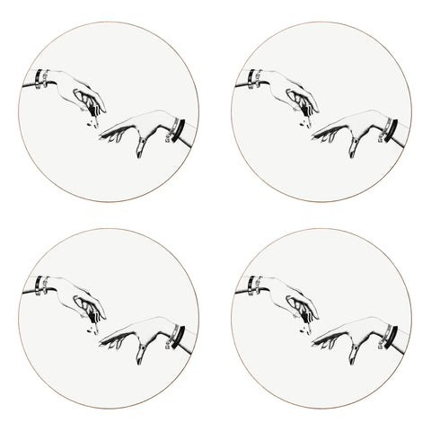 Set of Four - The Creation of Madam Coaster