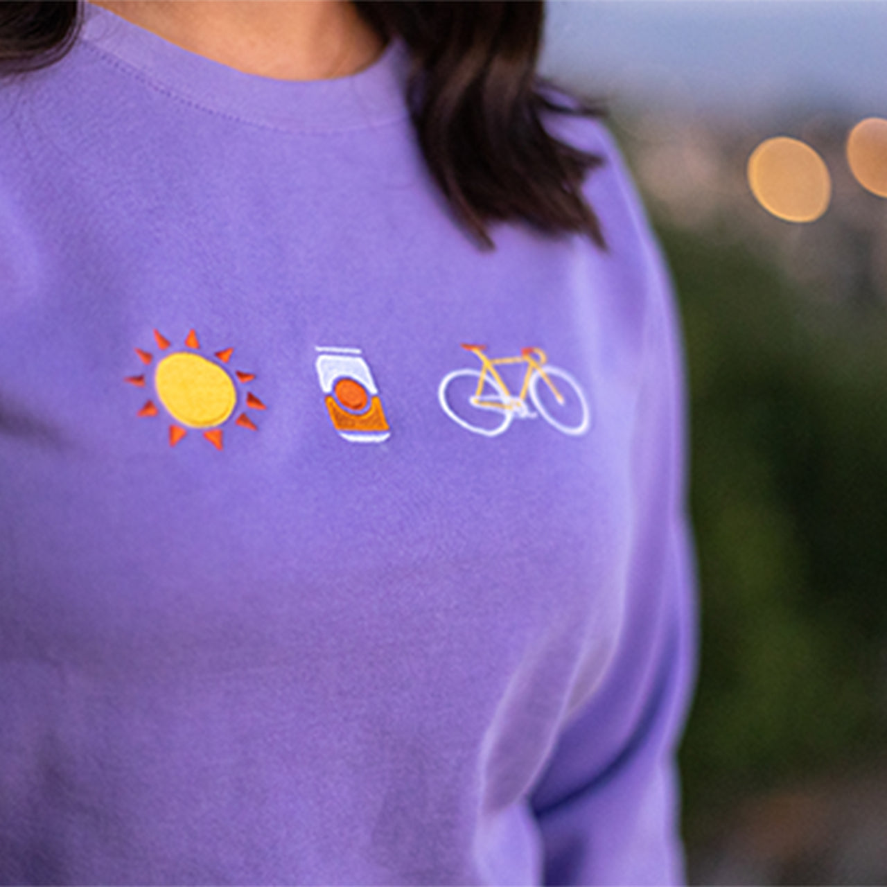 Sun & Fun Embroidered Crew