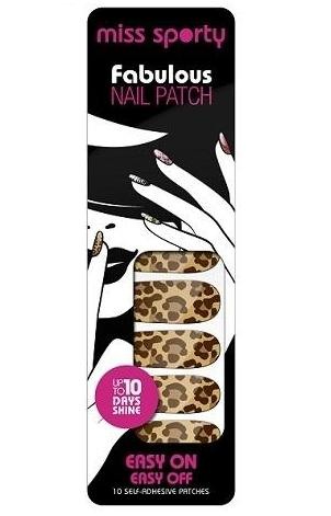 Miss Sporty Fabulous Nail Patches-005 Fierce Leopard