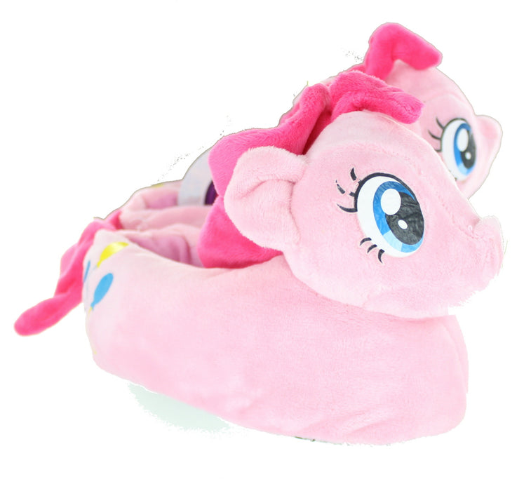 Girls My Little Pony MLP Pinkie Pie Slipper Pink Children Kids Novelty 3D Plush-6-7