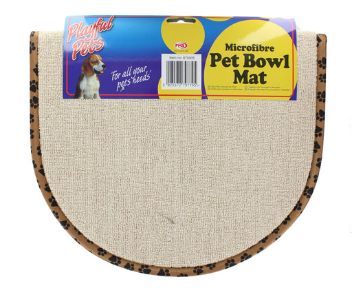 Playful Pets Large Microfibre Pet Bowl Mat/Placemat