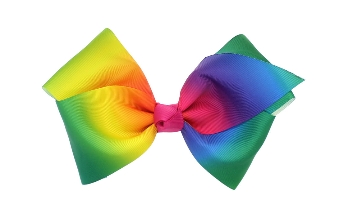 Childrens Girls Large Multi-Coloured Fashion Hair Bow Dance School Accessory