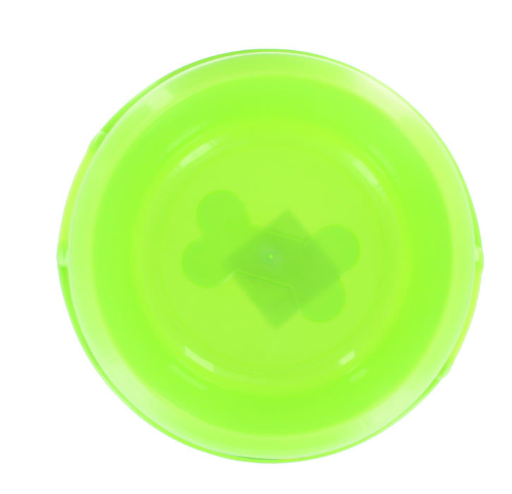 Playful Pets Plastic 20cm Dog Cat Puppy Pet Neon Feeding Water Bowl-Green
