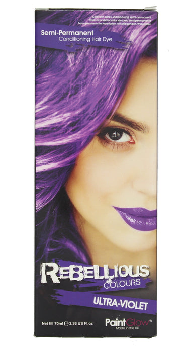 Paint Glow Rebellious Colours Semi-Permanent Conditioning Hair Dye 70ml-Ultra-Violet