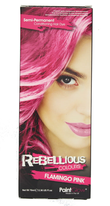 Paint Glow Rebellious Colours Semi-Permanent Conditioning Hair Dye 70ml-Flamingo Pink