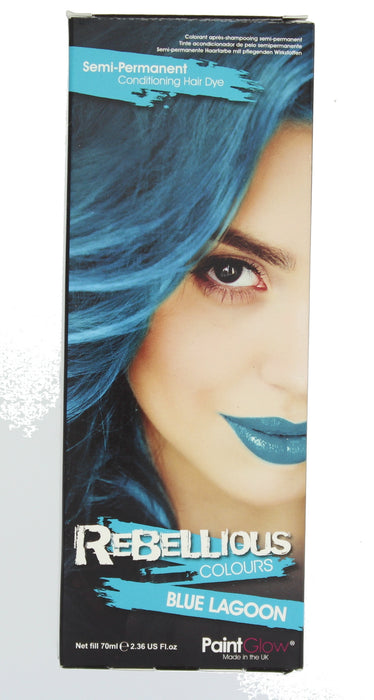 Paint Glow Rebellious Colours Semi-Permanent Conditioning Hair Dye 70ml-Blue Lagoon