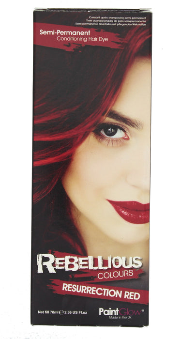 Paint Glow Rebellious Colours Semi-Permanent Conditioning Hair Dye 70ml-Resurrection Red