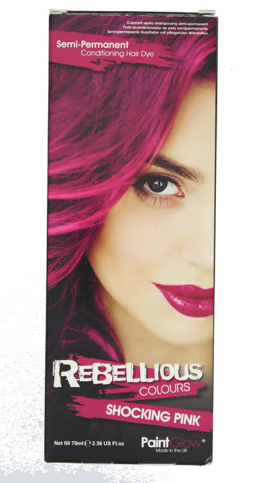 Paint Glow Rebellious Colours Semi-Permanent Conditioning Hair Dye 70ml-Shocking Pink