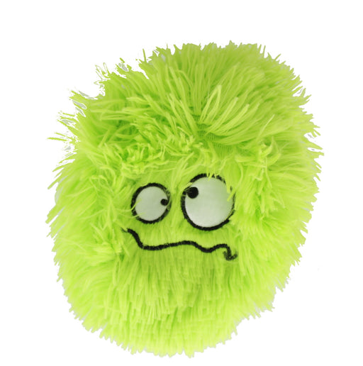 Children's 6 Inch Inflatable Neon Green Confused Funny Face Furry Ball With Eyes