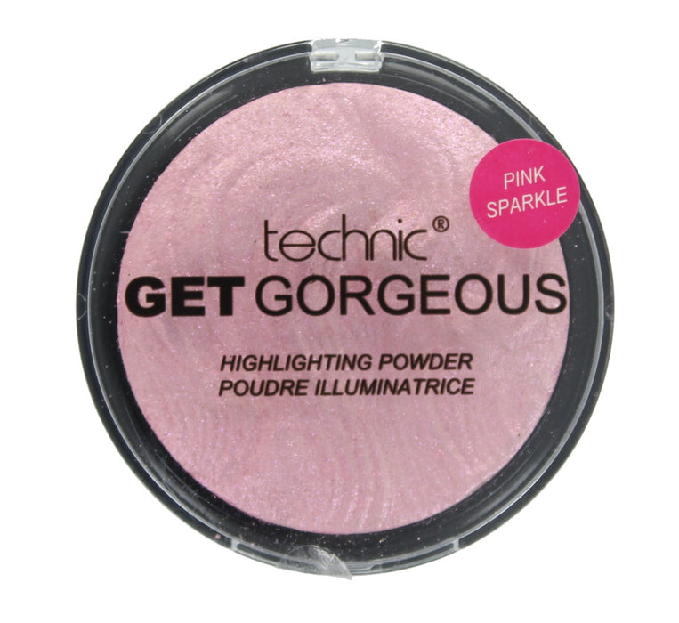 Highlighting Face Powder Palette Technic Get Gorgeous Highlighter Powders 12g- Pink Sparkle