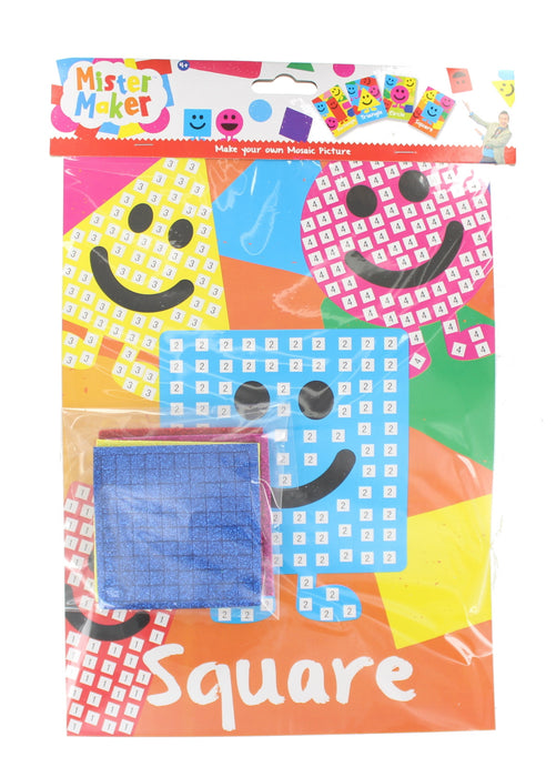Children's Arts Crafts Set Mister Maker Make Your Own Mosaic Picture Kids Gift-Square