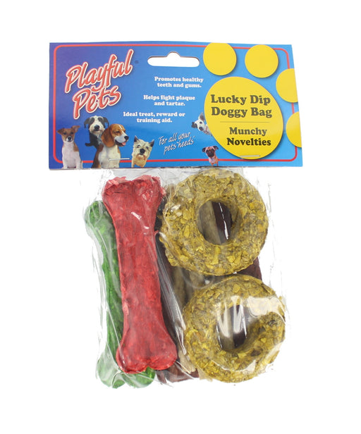 Playful Pets Assorted Lucky Dip Munchy Novelty Reward Dog Treats