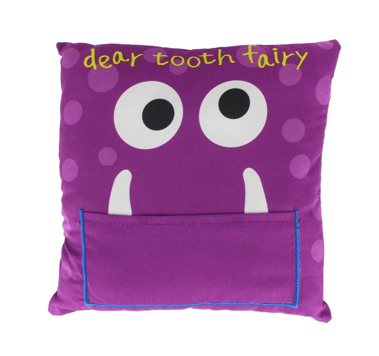 Children's Boys/ Girls Tooth Fairy Money Pillow Cushion With Note/ Letter Pocket -Purple