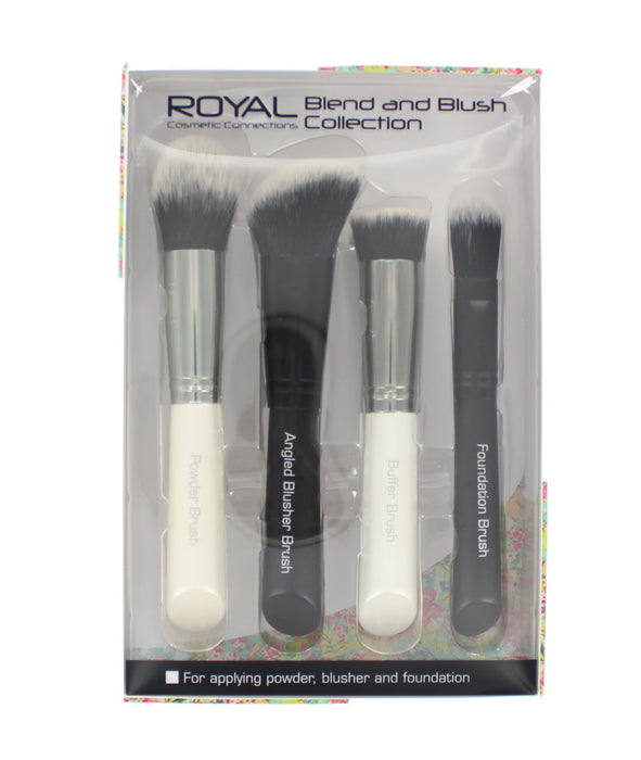 Royal Cosmetics 4 Piece Blend & Blush Brush Applicator Collection
